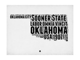 Oklahoma Word Cloud 2 Print by  NaxArt