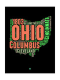 Ohio Word Cloud 1 Prints by  NaxArt