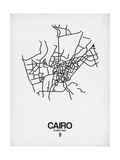 Cairo Street Map White Posters by  NaxArt