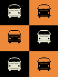 Bus Poster Plastic Sign by  NaxArt