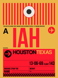 IAH Houston Luggage Tag 1 Plastic Sign by  NaxArt
