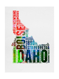Idaho Watercolor Word Cloud Print by  NaxArt