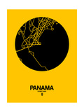 Panama Street Map Yellow Prints by  NaxArt