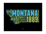 Montana Word Cloud 1 Prints by  NaxArt