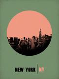 New York Circle Poster 1 Plastskilt av  NaxArt