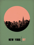 New York Circle Poster 1 Plastic Sign by  NaxArt