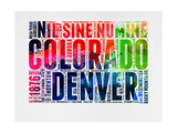Denver Watercolor Word Cloud Art by  NaxArt