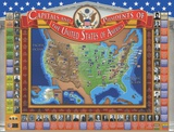 Kid'S United States Capitals And Presidents Interactive Wall Chart Poster