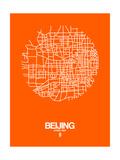 Beijing Street Map Orange Prints by  NaxArt