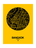 Bangkok Street Map Yellow Posters by  NaxArt