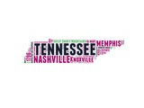 Tennessee Word Cloud Map Poster by  NaxArt