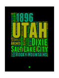 Utah Word Cloud 1 Prints by  NaxArt
