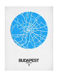 Budapest Street Map Blue Prints by  NaxArt