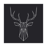 Deer Polygon Giclee-tryk i høj kvalitet af Lisa Kroll
