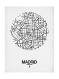 Madrid Street Map White Plakater af NaxArt