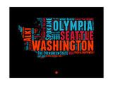 Washington Word Cloud 1 Posters by  NaxArt