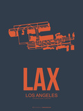 Lax Los Angeles Poster 3 Plastic Sign by  NaxArt
