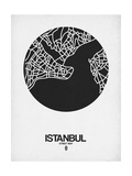 Istanbul Street Map Black on White Posters por  NaxArt
