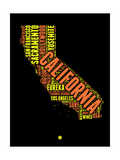 California Word Cloud 1 Poster by  NaxArt