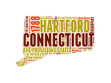 Connecticut Word Cloud Map Print by  NaxArt