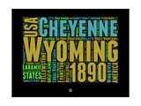 Wyoming Word Cloud 1 Prints by  NaxArt