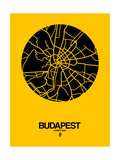Budapest Street Map Yellow Print by  NaxArt