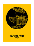 Vancouver Street Map Yellow Plakater af  NaxArt