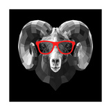 Ram in Red Glasses Prints by Lisa Kroll