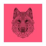 Pink Woolf Posters by Lisa Kroll