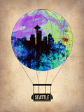 Seattle Air Balloon Plastic Sign by  NaxArt