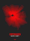 Copenhagen Radiant Map 3 Plastic Sign by  NaxArt