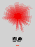 Milan Radiant Map 1 Plastic Sign by  NaxArt