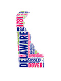Delaware Word Cloud Map Posters by  NaxArt
