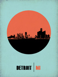 Detroit Circle Poster 2 Plastic Sign by  NaxArt