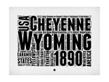 Wyoming Word Cloud 2 Prints by  NaxArt