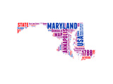 Maryland Word Cloud Map Poster by  NaxArt