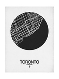 Toronto Street Map Black on White Print by  NaxArt