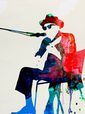 John Lee Hooker Watercolor Plastic Sign by Lora Feldman