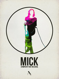 Mick Watercolor Plastic Sign by David Brodsky