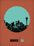 Denver Circle Poster 1 Plastic Sign by  NaxArt