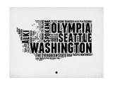Washington Word Cloud 2 Posters by  NaxArt