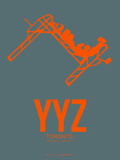 Yyz Toronto Poster 1 Plastic Sign by  NaxArt