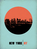 New York Circle Poster 2 Plastic Sign by  NaxArt