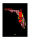 Florida Word Cloud 1 Poster by  NaxArt
