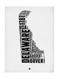 Delaware Word Cloud 2 Posters by  NaxArt