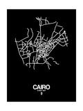 Cairo Street Map Black Art by  NaxArt