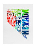 Nevada Watercolor Word Cloud Posters by  NaxArt