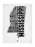Mississippi Word Cloud 2 Posters by  NaxArt
