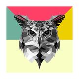 Owl Head Posters van Lisa Kroll
