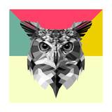 Owl Head Prints by Lisa Kroll